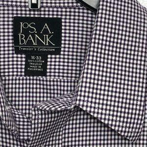 Jos A. Bank Travelers Collection Burgundy Shirt